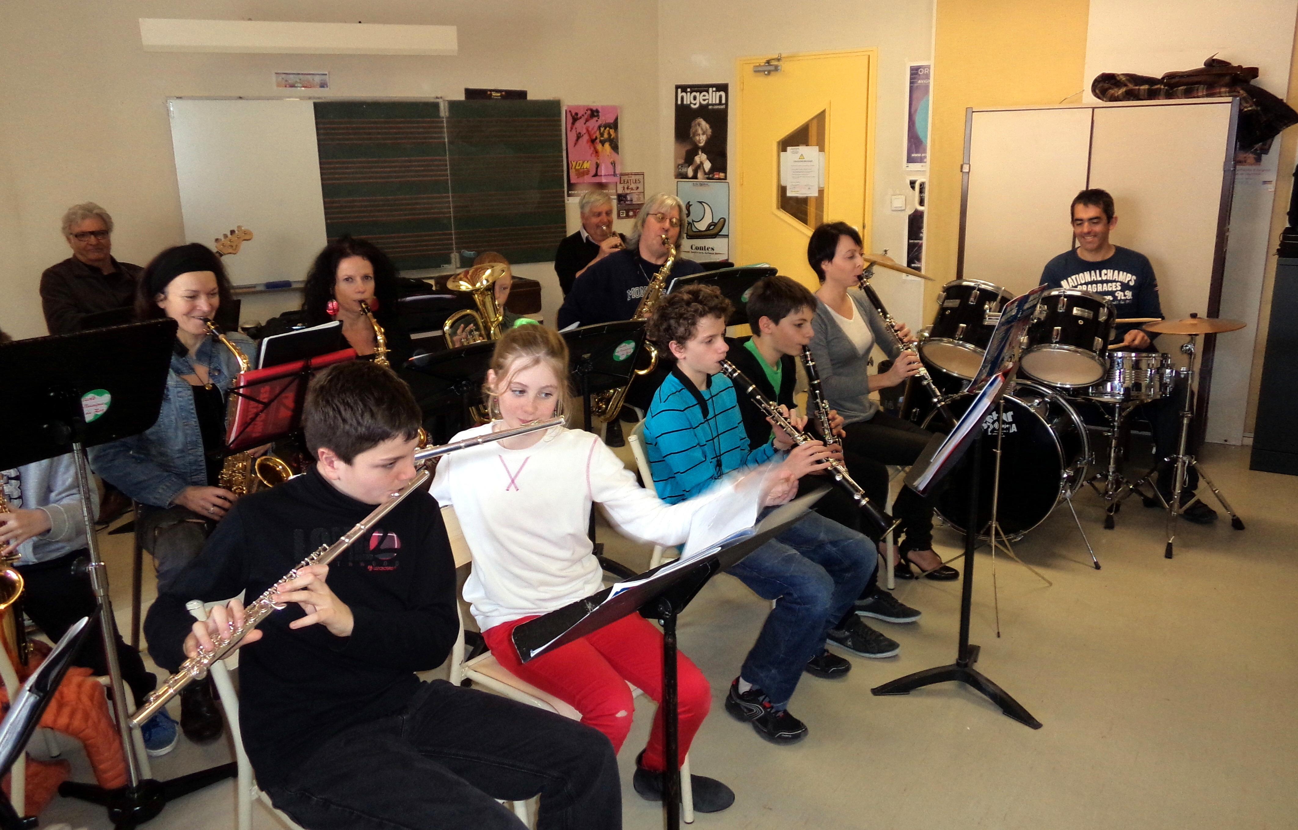 L'orchestre de l'école de musique 2014