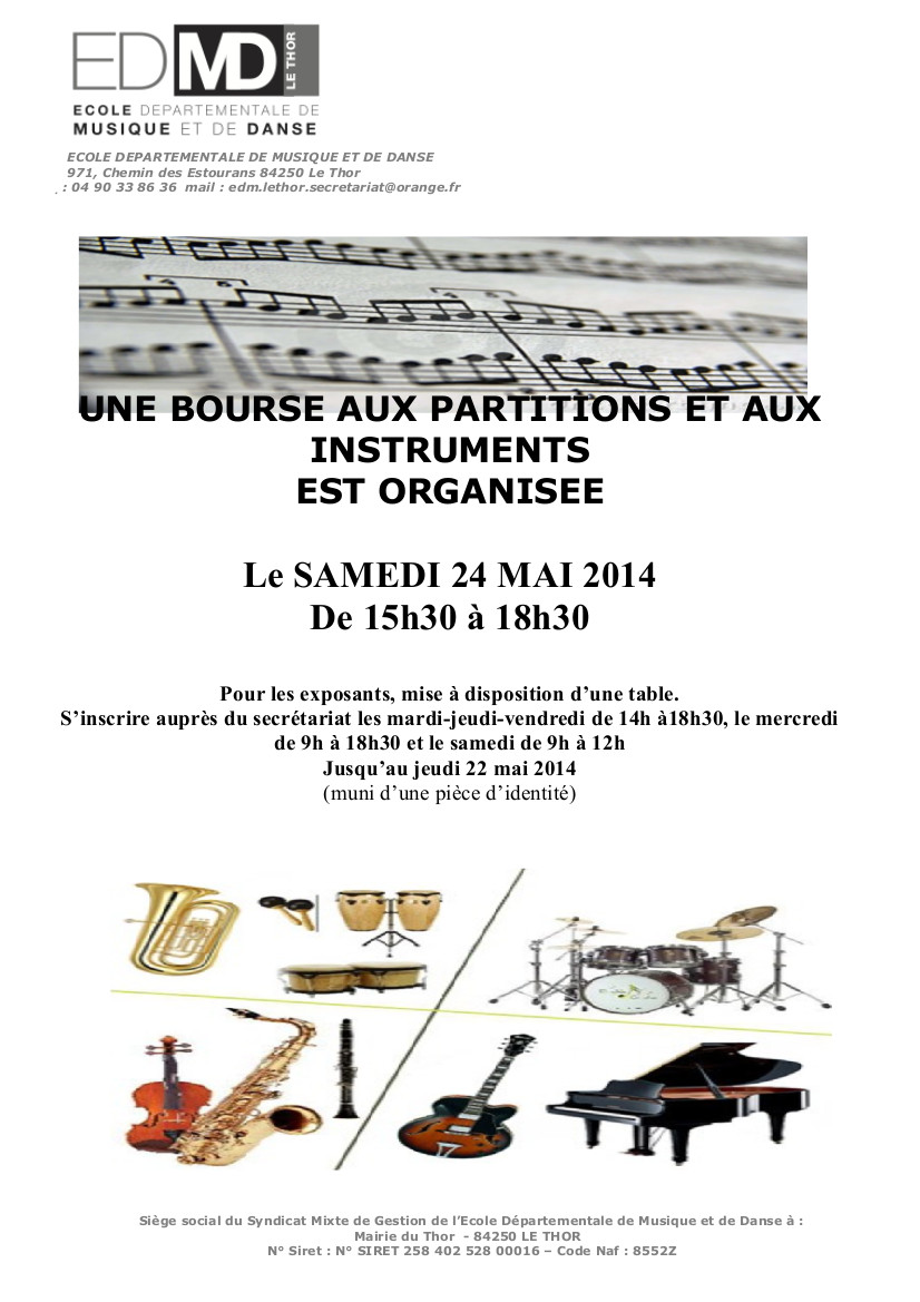 affiches bourses instruments