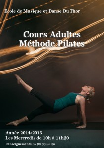 Les cours de Pilates au thor affiche