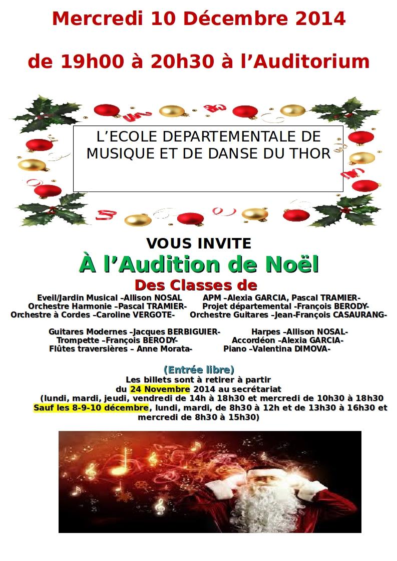 affiche audition du 10-12 2014